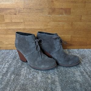 Korkease Grey Suede Leather Ankle Boots Size 7